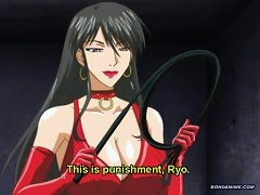 Hot Hentai Woman With Big Tits Whips And Sucks Boys Cock