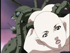 Terrified Anime Girls Gets Brutally Banged By Giant Monster Tentacles